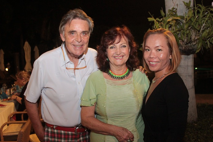 Elfi holds Axel Brauer and Bo close to her heart.