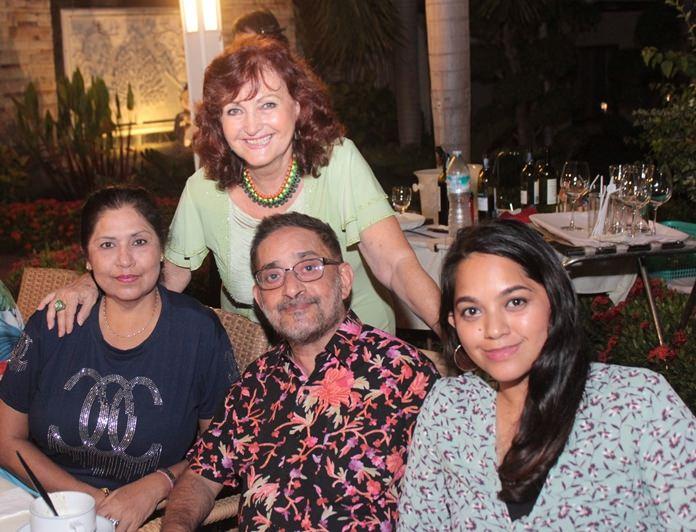 Elfi's family in Thailand, Malwinder, Marlowe and Marisa Malhotra.