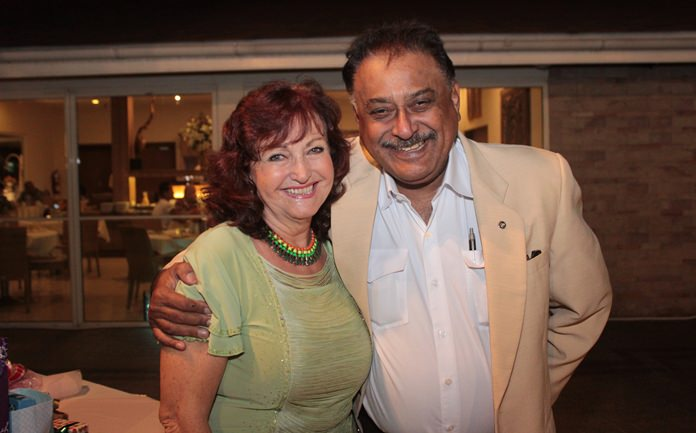 Life-long friends (40 years): Elfi and Peter Malhotra.