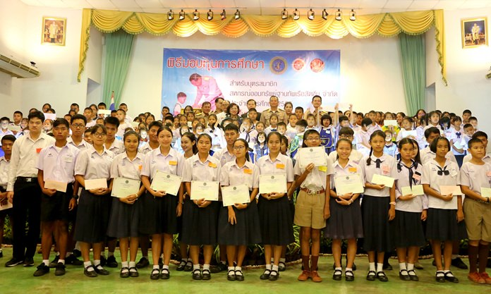 The Sattahip Naval Base's Savings and Credit Cooperative donated more than a million baht in scholarships to members' children.