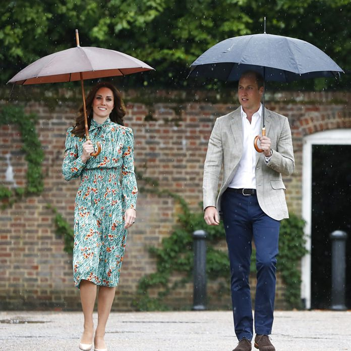 In this Wednesday, Aug. 30, 2017 file photo Britain's Prince William and his wife Kate, Duchess of Cambridge smile as they arrive at the memorial garden in Kensington Palace, London.(AP Photo/Kirsty Wigglesworth, File)