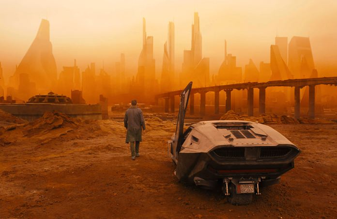 "This image shows a scene from ""Blade Runner 2049."" (Warner Bros. Pictures via AP)"