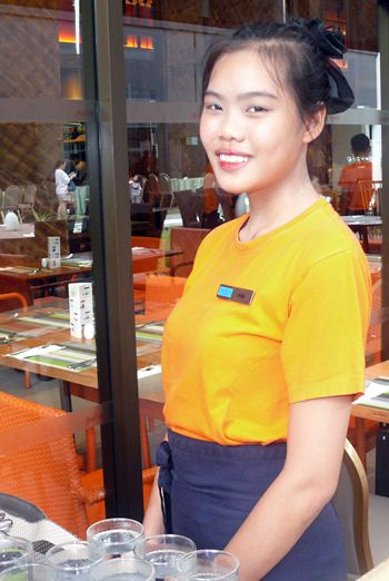 Jane, one of the happy waitresses.
