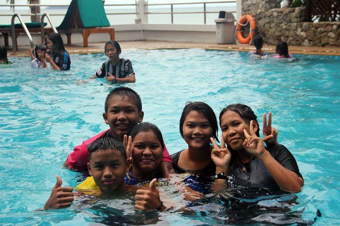 More fun in the pool.