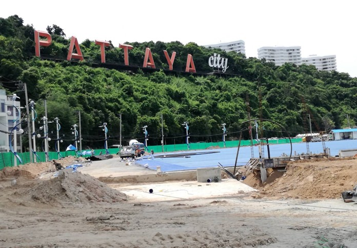 The submersion of electrical and utility wires at Bali Hai Pier is scheduled to complete this month.