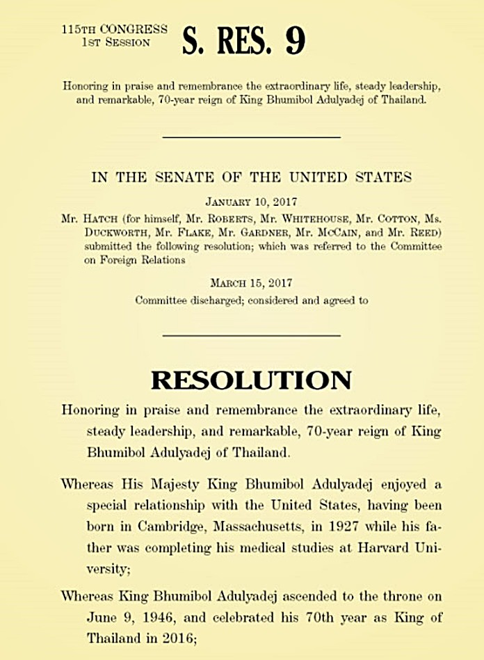 First page of the resolution.