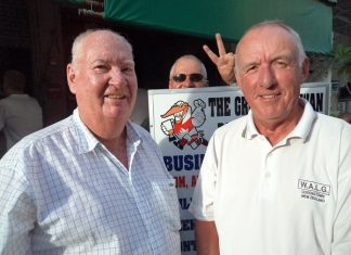 Ian Parry (right) with Bernie McCart.