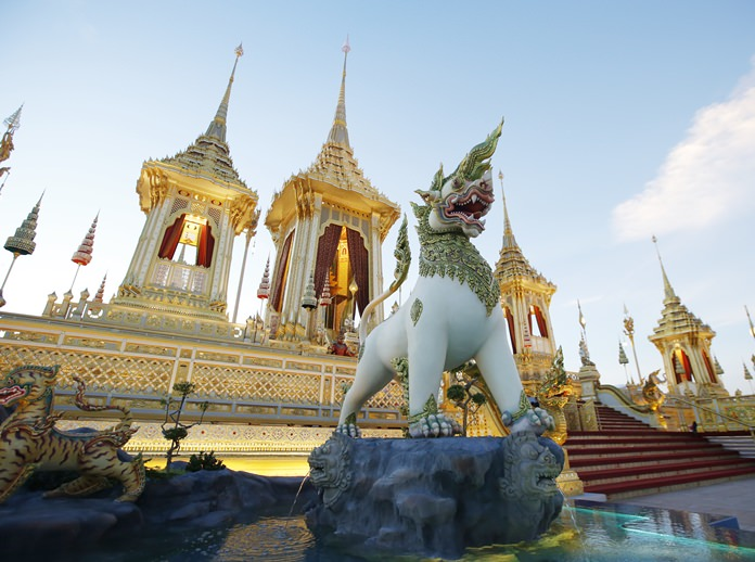 The first level is surrounded with the ceremonial fence, or enclosure (Rajawat). (AP Photo/Sakchai Lalit)