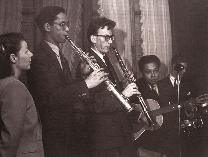 "H.M. King Bhumibol and six friends formed ""probably the most intricately gadgeted orchestra in Europe,"" regularly meeting at his Lausanne villa to play until the dawn hours. The neighbors never complained."