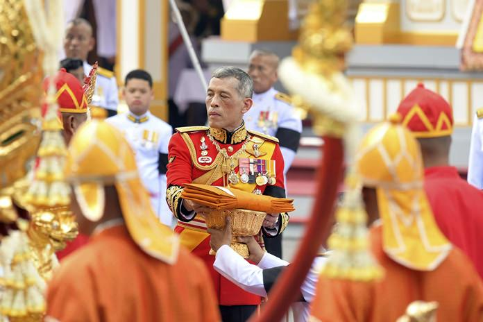 "HM King Maha Vajiralongkorn takes part in the funeral of late Thai King Bhumibol Adulyadej in Bangkok. A ceremony in an ornate throne hall Thursday morning began the transfer of the remains of Thailand's King Bhumibol Adulyadej to his spectacular golden crematorium in the royal quarter of Bangkok after a year of mourning for the monarch Thais hailed as ""Father"". (AP Photo/Kittinun Rodsupan)"