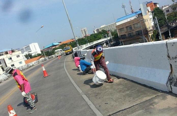 The Bali Hai flyover is getting fixed up in preparation for this month's international fleet show.