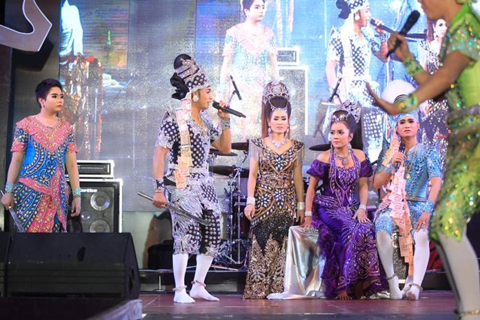 Thailand's leading Likay team, led by Eakapong Singwijan, performs a Thai traditional drama.