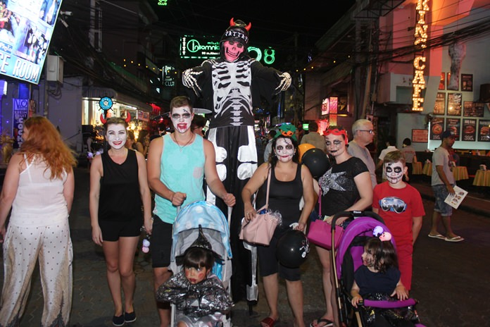 Walking Street was particularly busy during Halloween night.