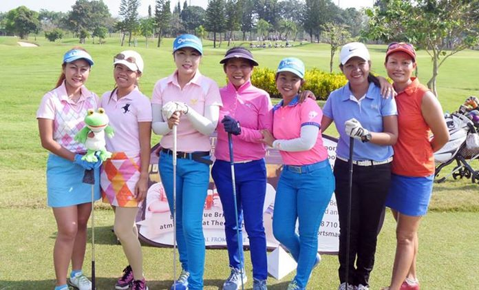 Lady golfers line up at the October PAGS monthly