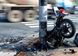Motorcycle crash.