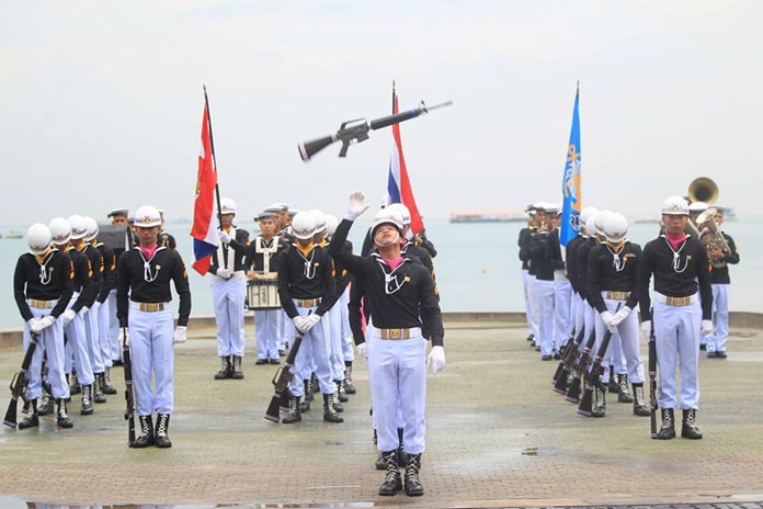 The Royal Thai Navy celebrate its founding with a fancy drill and parades.