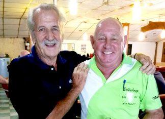 William Macey (left) with Capt. Bob.
