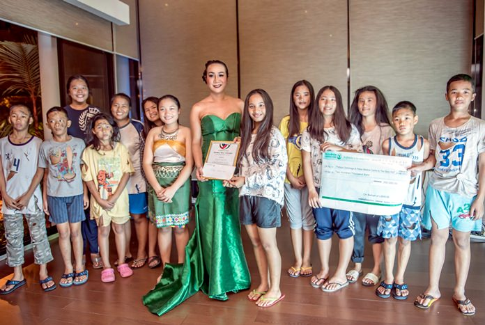 After putting on a special performance, the children from the Pattaya Orphanage were presented with a 200,000 baht check which will go towards their education, daily expenses and more.