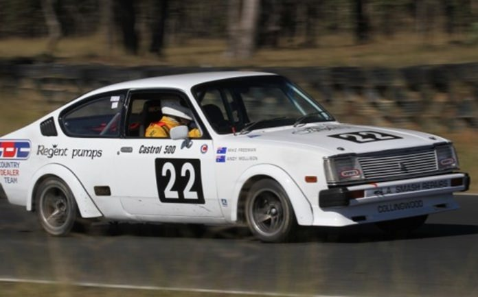 An Isuzu Gemini racer in Oz.
