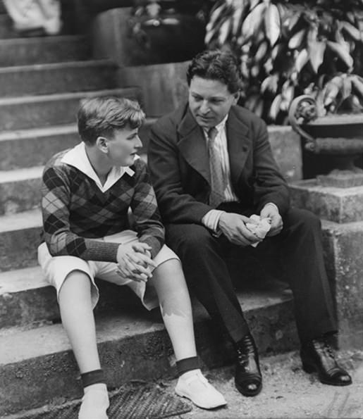 George Enescu and one of his pupils in 1931, a very young Yehudi Menuhin.