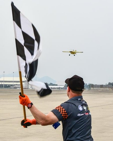 The chequered flag awaits one of the intrepid flyers at U-Tapao Air Base, Sunday, Nov. 19.