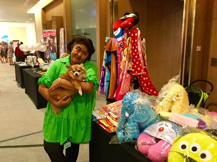 Vicky Malhotra and Brownie at her stall.