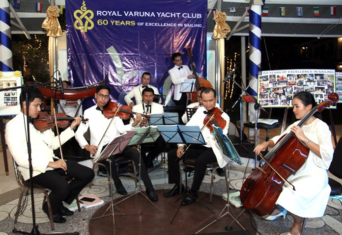 The Royal Thai Navy band played 50s & 60s period music at the party to bring back memories of yesteryear.