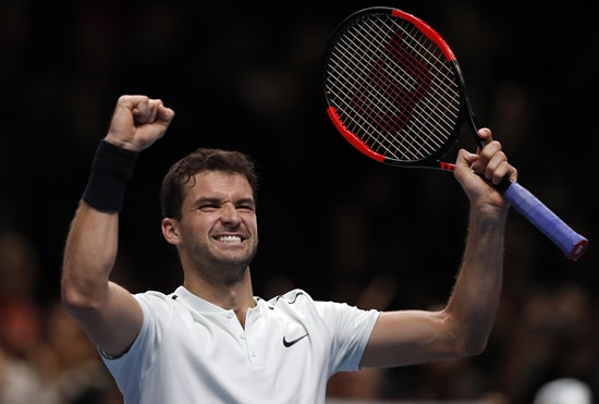 Dimitrov demolishes Goffin to reach semi-finals of ATP World Tour Finals