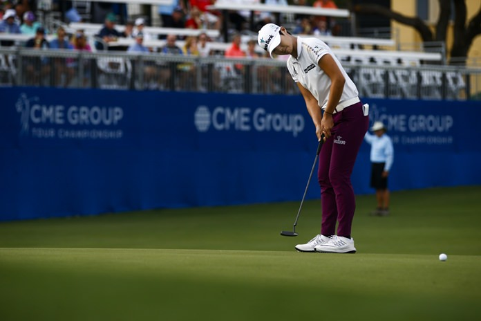 Sarah Jane Smith leads in LPGA Tour event
