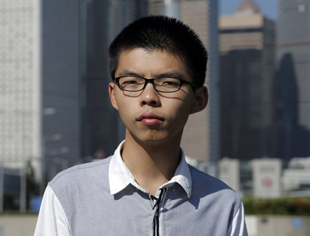 Young Hong Kong democracy activist Joshua Wong is shown in this Nov. 1, 2017 file photo. (AP Photo/Kin Cheung)