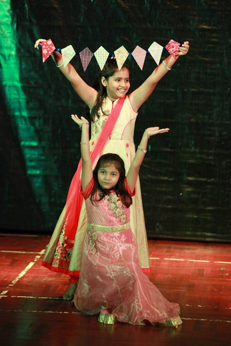 Two Primary students from GIS were among the Diwali dancers.