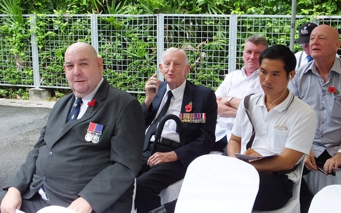RBL Secretary Bert Elson (left) and WWII veteran Archie Dunlop (behind), the Legion's oldest member at 95.