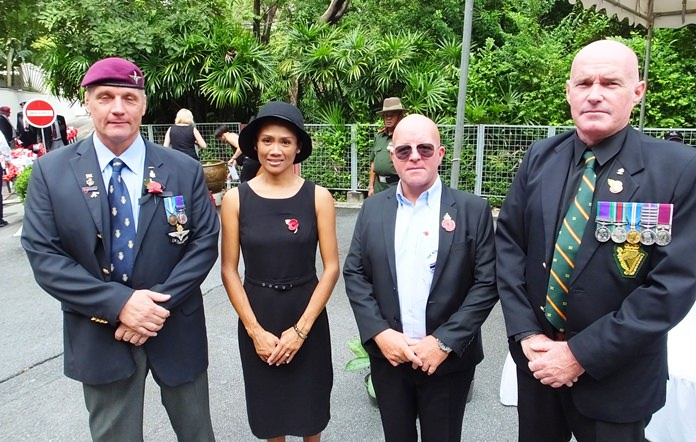 (L to R) RBL members Robert Mann, Mrs Mann, Iain Cousins and Marty Neill.