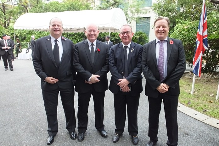 The British Chamber of Commerce Thailand was represented by (L to R) Greg Watkins, Graham Macdonald, Mark Bowling and Simon Matthews.