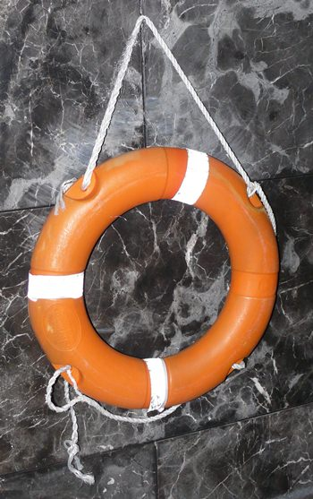 A life buoy just in case!