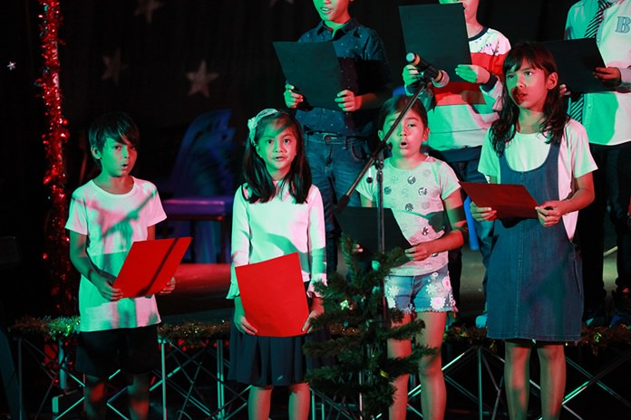 Primary performers at the GIS Christmas Concert.