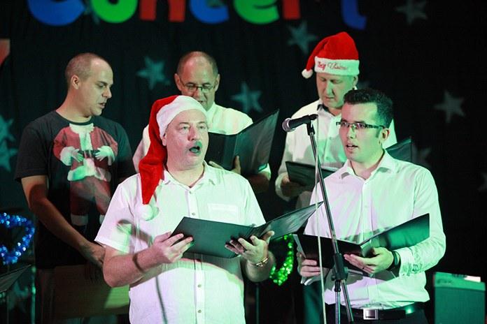 Teachers also joined in the festive spirit.