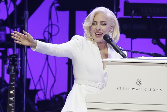 Lady Gaga is shown performing in this Oct. 21, 2017 file photo. (AP Photo/LM Otero)