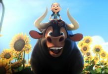 "This image shows a scene from the animated film, ""Ferdinand."" (Twentieth Century Fox via AP)"