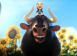 "This image shows a scene from the animated film, ""Ferdinand."" (Twentieth Century Fox via AP)"