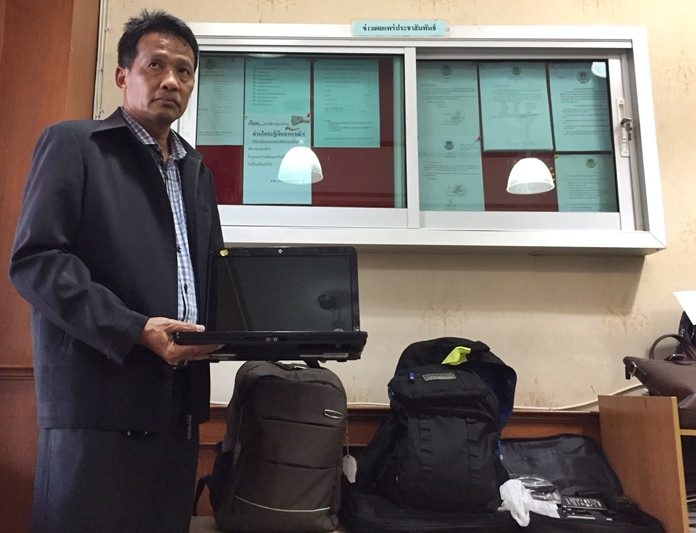 Tawat Perkboonnak, president of the Pattaya Baht Bus Cooperative, says if you've lost something on a baht bus, check the group's lost-and-found bin at the co-op's offices in Naklua.