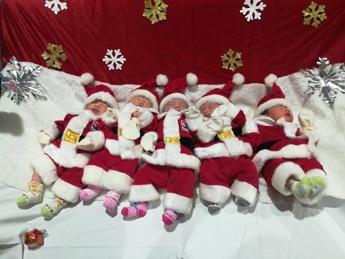 Bangkok Hospital Pattaya found Santa outfits in sizes to fit newborns.