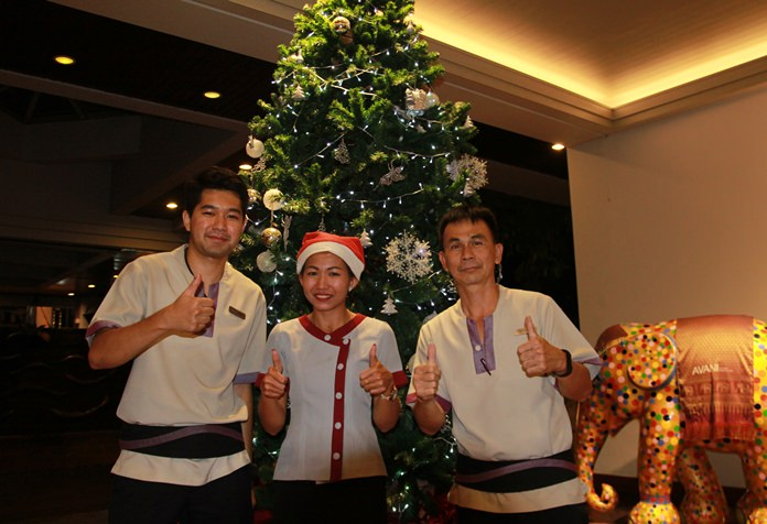 The Avani Hotel's Christmas tree and celebration receives thumbs up from staff and guests.