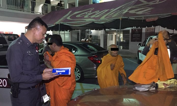 Sontaya Homhuan, 54, and Sombat Menthong, 70, were arrested and disrobed after failing a drug test in Pattaya.