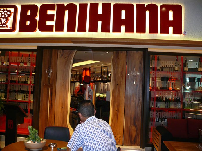 You won't miss the Benihana sign.