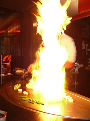 Chef amazes with self-immolation.