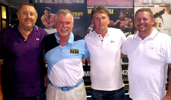 From left: Keith Woolley, Dennis Scougall, John Hughes and Mark Potton.