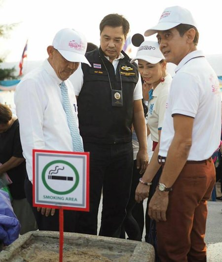 Mayor Anan Charoenchasri has given authority to implement the ban to the Marine and Coastal Resources office. However, police and municipal officers also will be enforcing the ban and can heavily fine or arrest smokers lighting up outside designated areas.