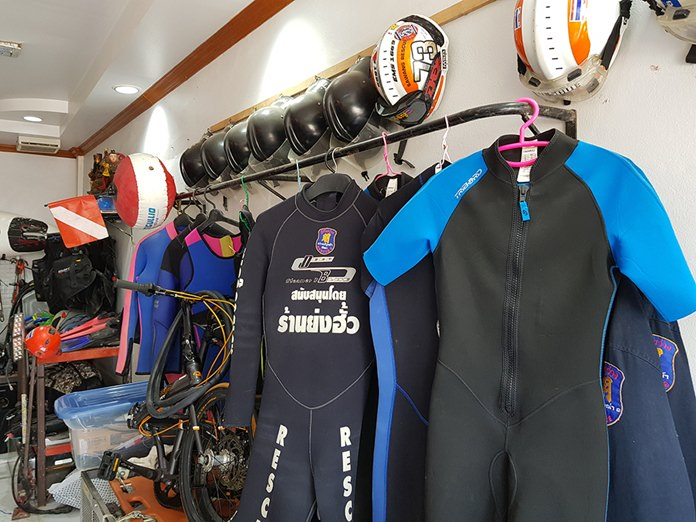 Apparel and equipment used by the rescue teams in land and sea operations.