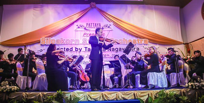 Dr Tasana Nagavajara, soloist and conductor of Silpakorn String Orchestra.